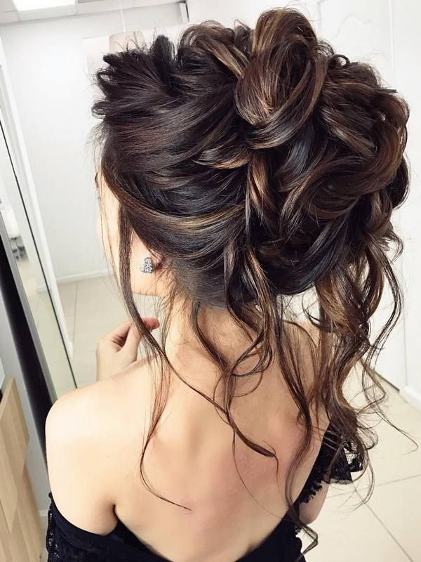 Wedding Hairstyle For Long Hair Half Updo Braids Chongos