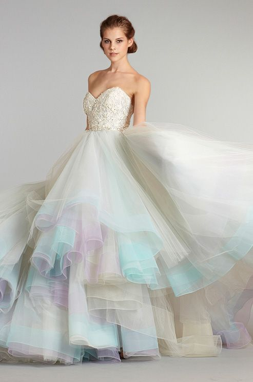 Ball Gown Wedding Dresses For Bride : Subtle purple tones in this ...