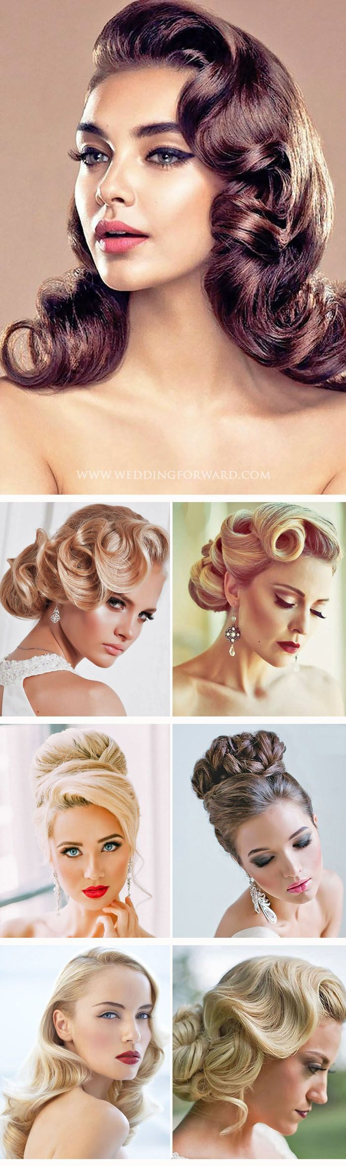 Wedding Hairstyle For Long Hair 24 Utterly Gorgeous Vintage Wedding Hairstyles From 20s Gatsby Style And Sen Weddingtrend Home Of Bridal Trends The Hottest New Wedding Trends Straight From The Experts