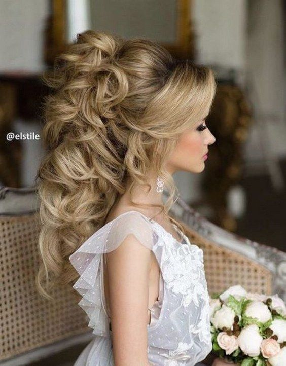 Wedding Hairstyle For Long Hair Curly Updo Wedding