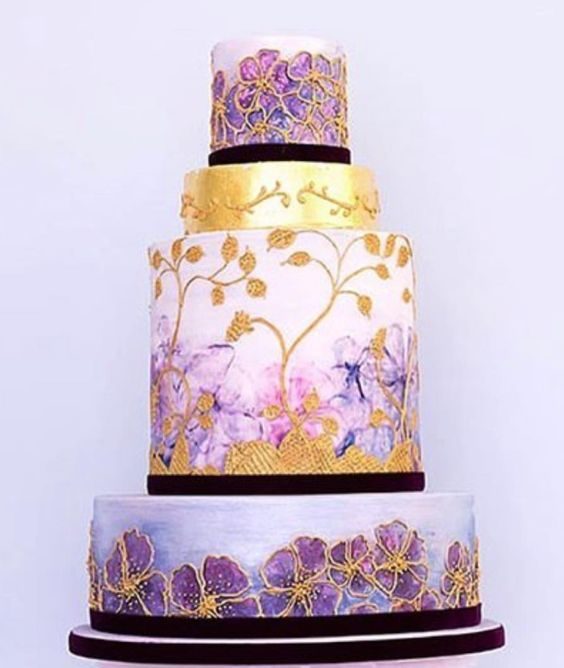 Wedding Cakes : Featured Cake: Rosalind Miller Cakes; Wedding cake ...