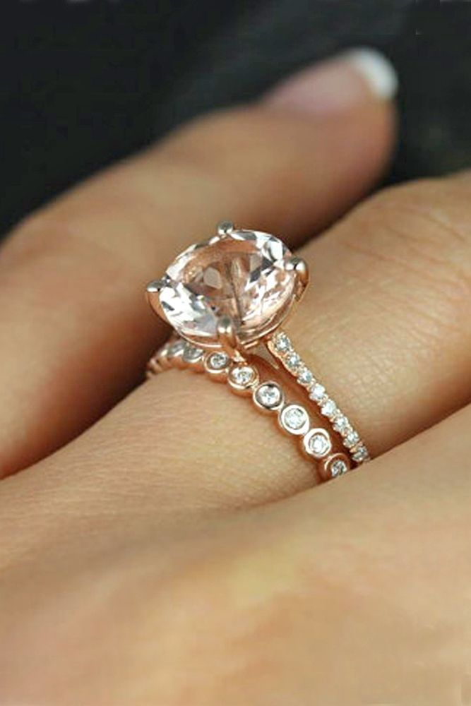 best 25 morganite ring ideas on pinterest rose gold morganite ring pink engagement rings and pink wedding rings - Morganite Wedding Rings