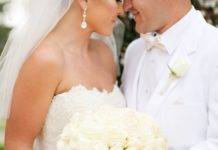 Wedding Bouquets Inspiration Chic All White Rose Bouquet Stylemepretty
