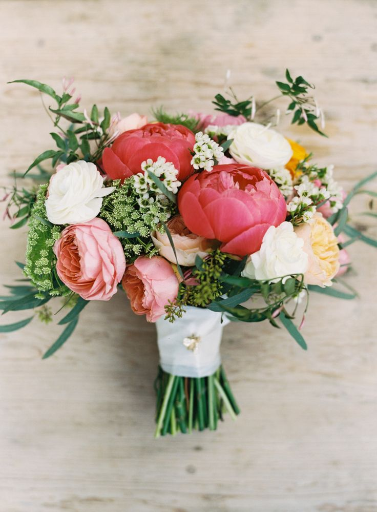 Wedding Bouquets Inspiration : Peony, rose, ranunculus, and anemone ...