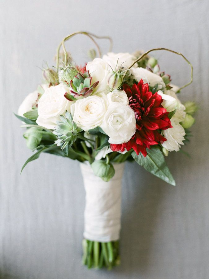 Wedding Bouquets Inspiration : Red and ivory wedding bouquet: www ...