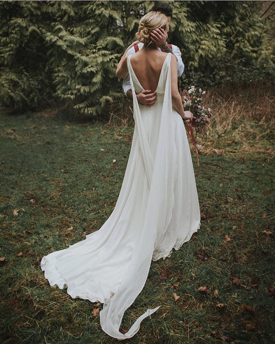 Wedding Dress Inspiration Modern Day Goddess Love The Cut And Drape On The Back Of This Ethereal Dress Ca Jpg Weddingtrend Home Of Bridal Trends The Hottest New Wedding Trends Straight From The Experts