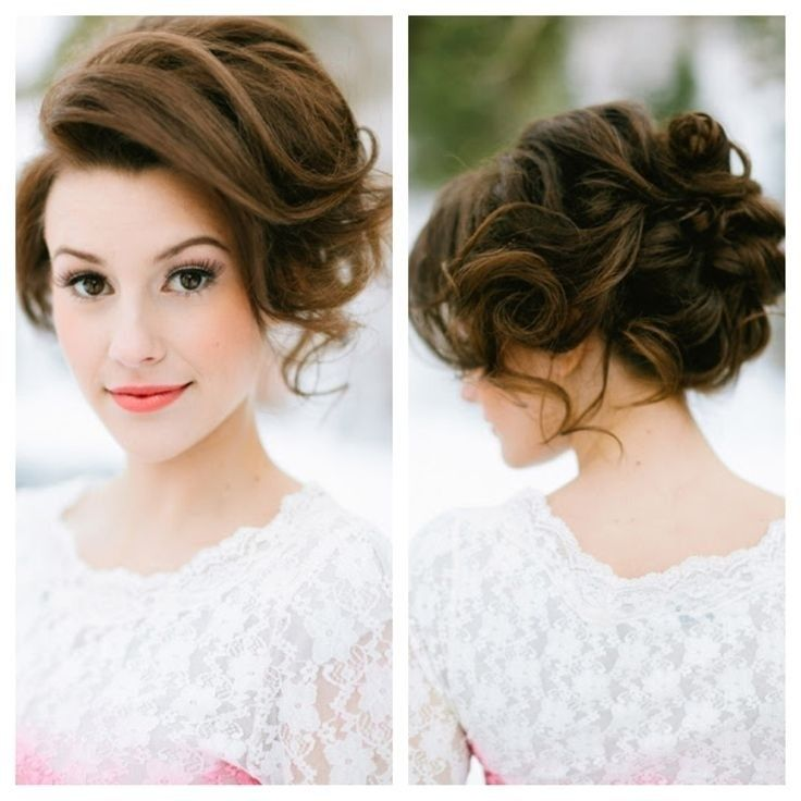 Wedding Hairstyle For Long Hair : Bridesmaid Hair and Makeup: Messy ...