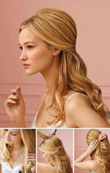 Wedding Hairstyle For Long Hair Create Soft Loose Curls For This Demi Chignon Hairstyle Then Pin Back Some Of Y Weddingtrend Home Of Bridal Trends The Hottest New Wedding Trends