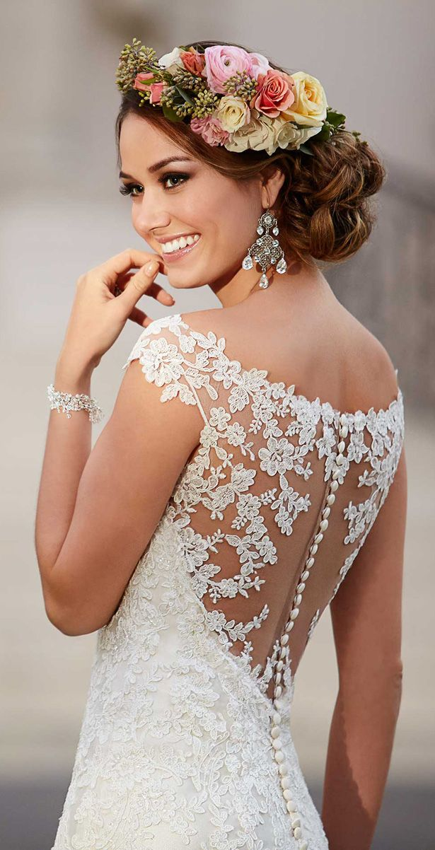 Wedding Hairstyle For Long Hair Wedding Dress By Stella York