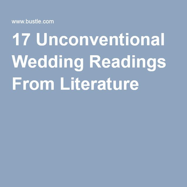 wedding quotes 17 unconventional wedding readings from