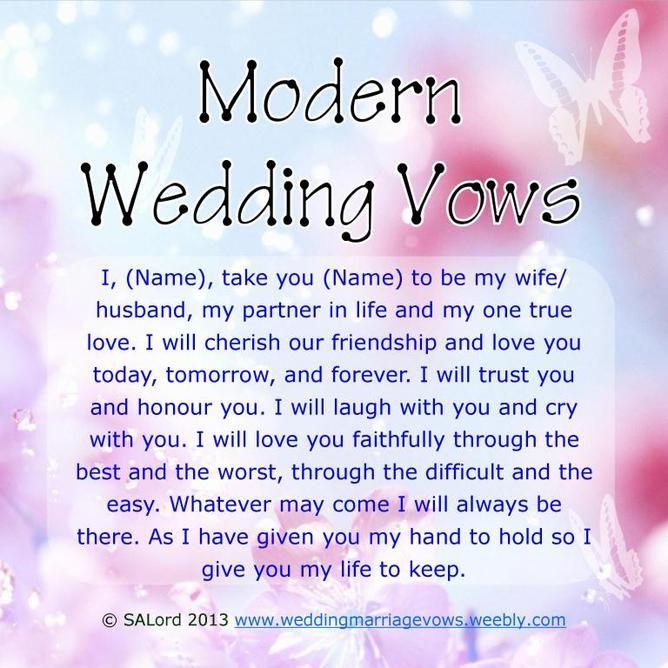 Best 25 Modern Wedding Vows Ideas On Pinterest