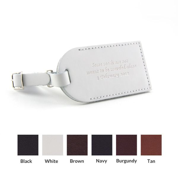 Wedding Quotes : Leather Luggage Tag wedding favor. LOVE the quote ...