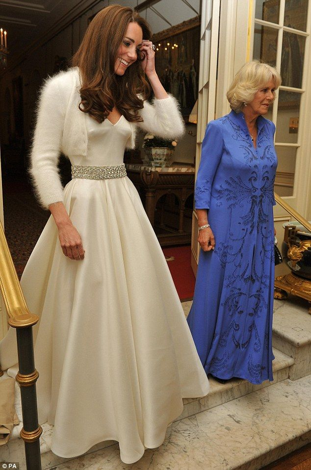 Ball Gown Wedding Dresses For Bride : Kate, in her gown for the ...