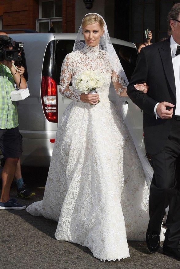 Ball Gown Wedding Dresses For Bride Nicky Hilton Wears A Custom