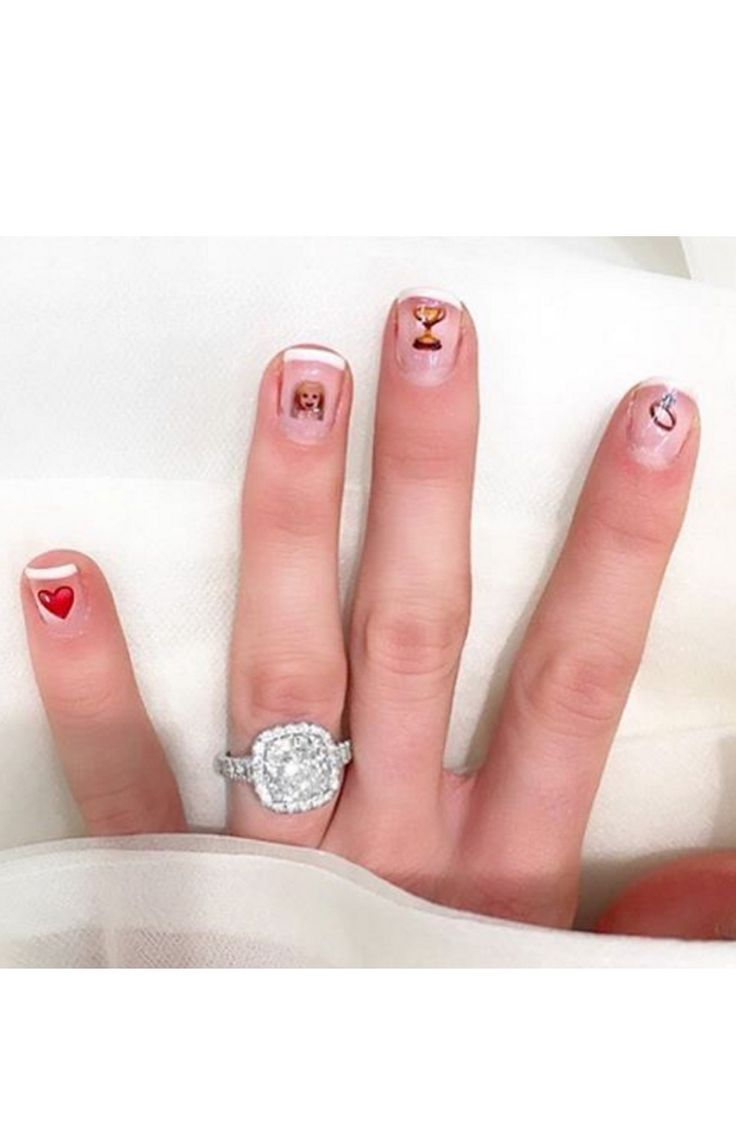 Engagement Rings: Emoji nail stickers + a pretty ring selfie: www ...