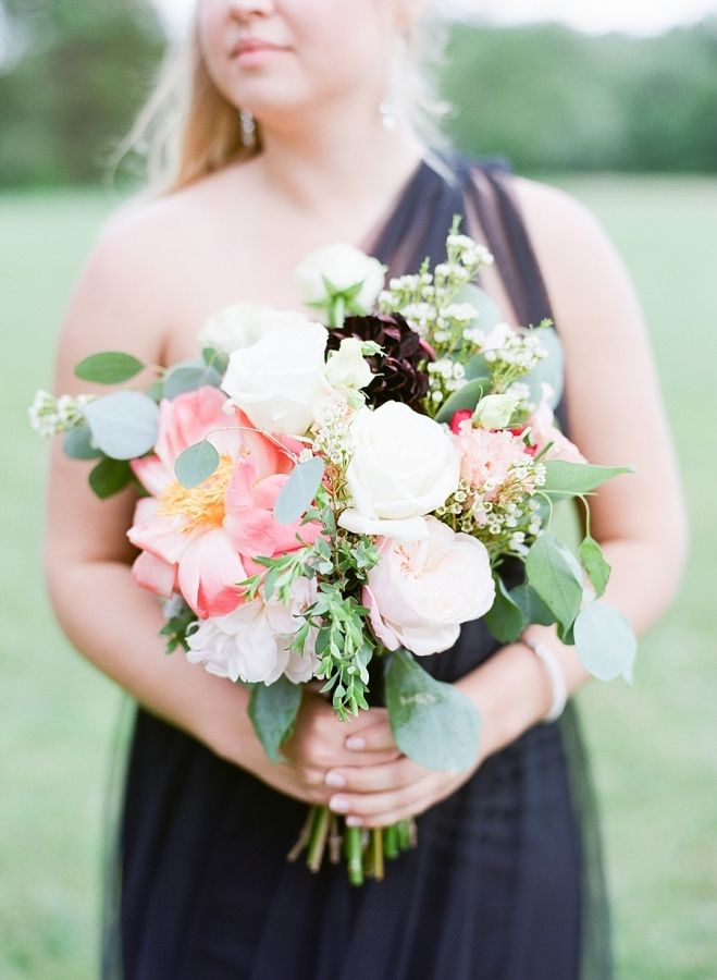 Wedding Bouquets Inspiration : Eucalyptus, lamb\'s ear, peony, and ...