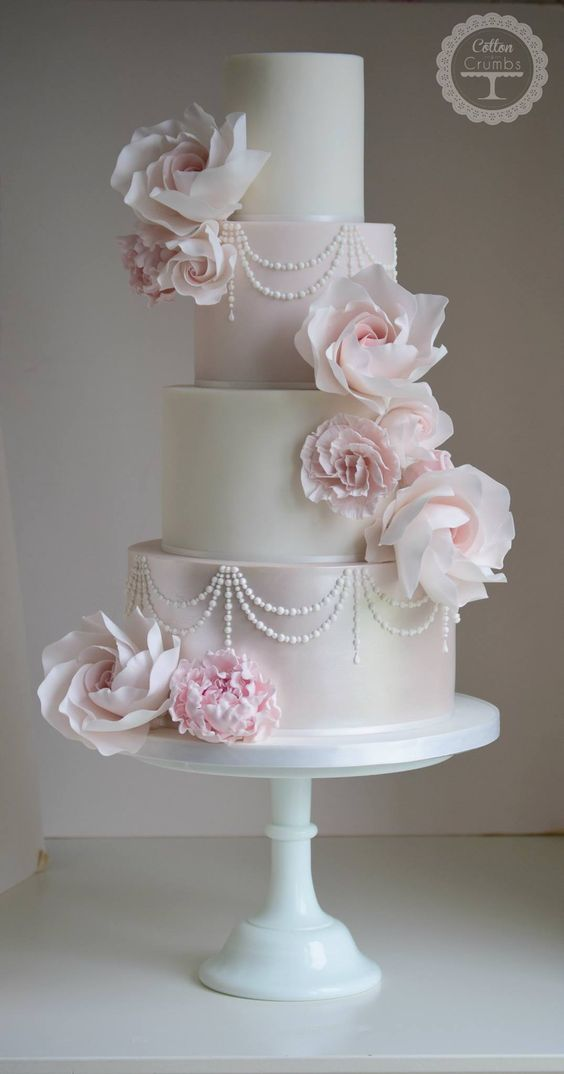 pink and white wedding cake designs wedding cakes featured cake cotton and crumbs 18560