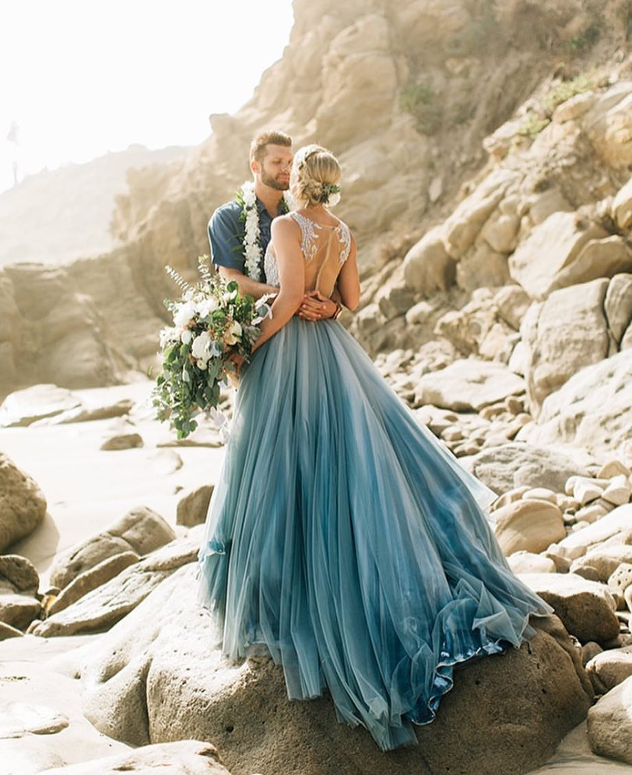 Wedding Dress Inspiration : Turquoise dreams What beautiful blue ...