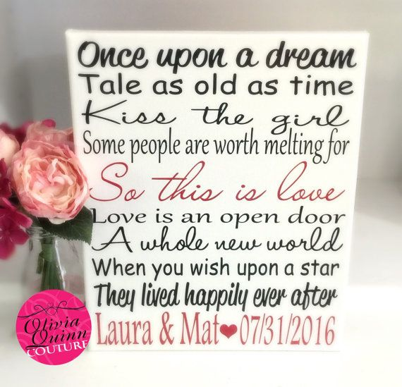 Wedding Quotes Disney Love Story Art Print Song Quote Couples Prince