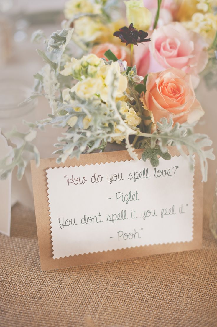 Wedding Quotes : Winnie the Pooh wedding centerpiece, natural ...