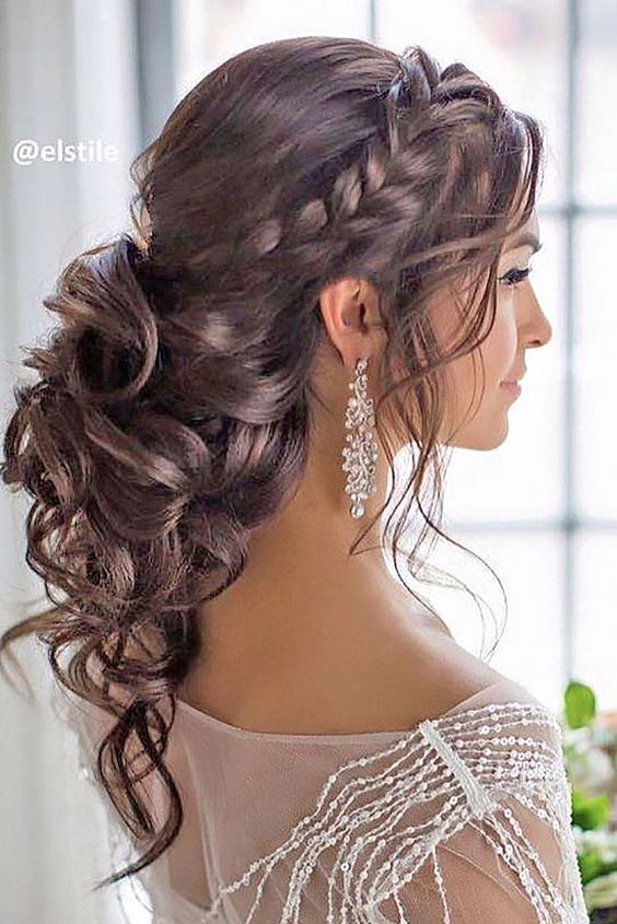 Curly Hairstyles Cool Bridal Hair Images In For 2018