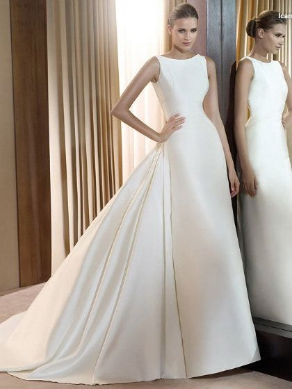 Ball Gown Wedding Dresses For Bride A Line High Necck Strapless
