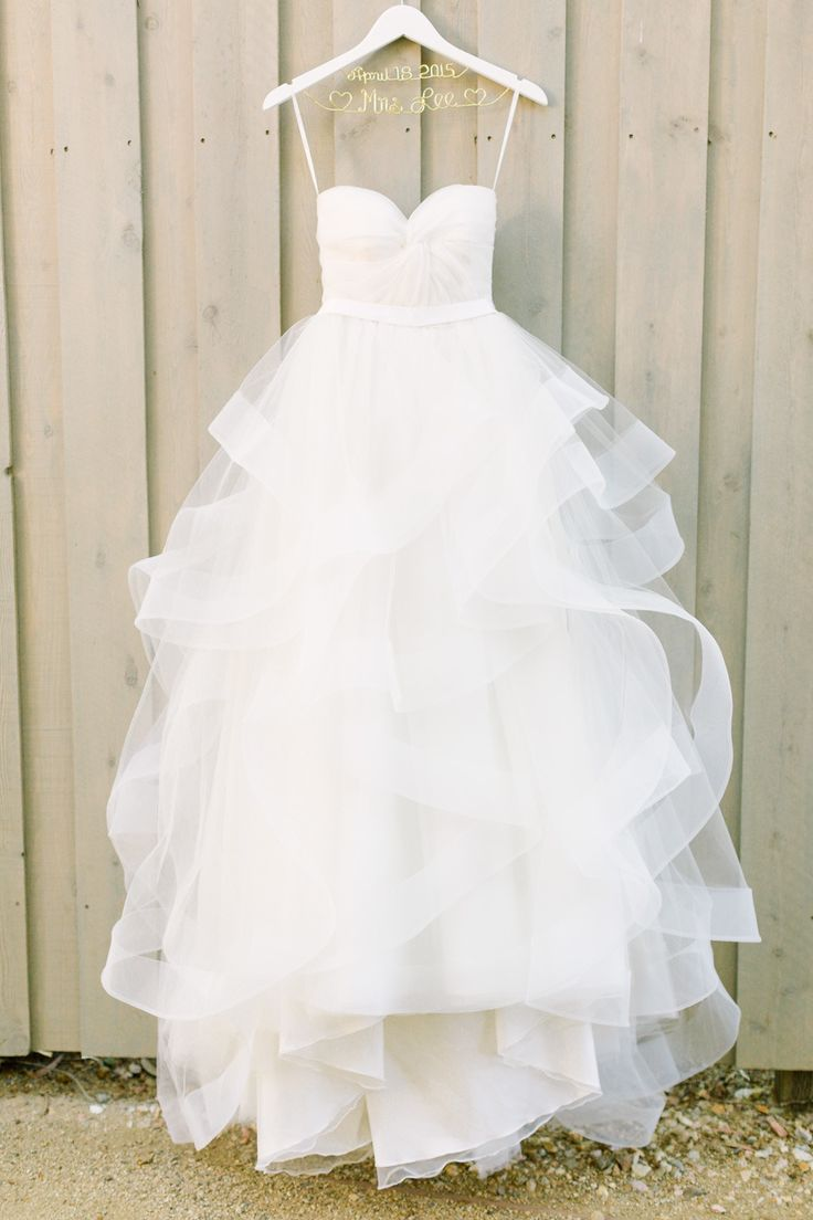 Ball Gown Wedding Dresses For Bride : Dress hanging on wall to ...