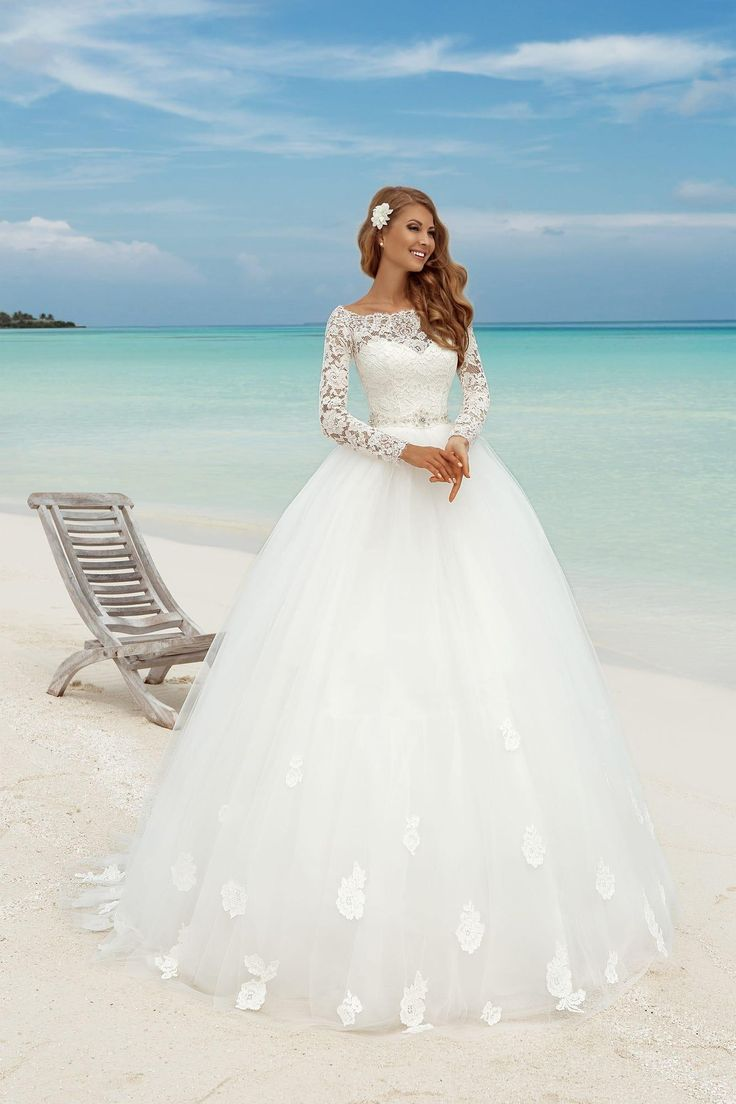Ball Gown Wedding Dresses For Bride : Princess 2016 Lace Long ...
