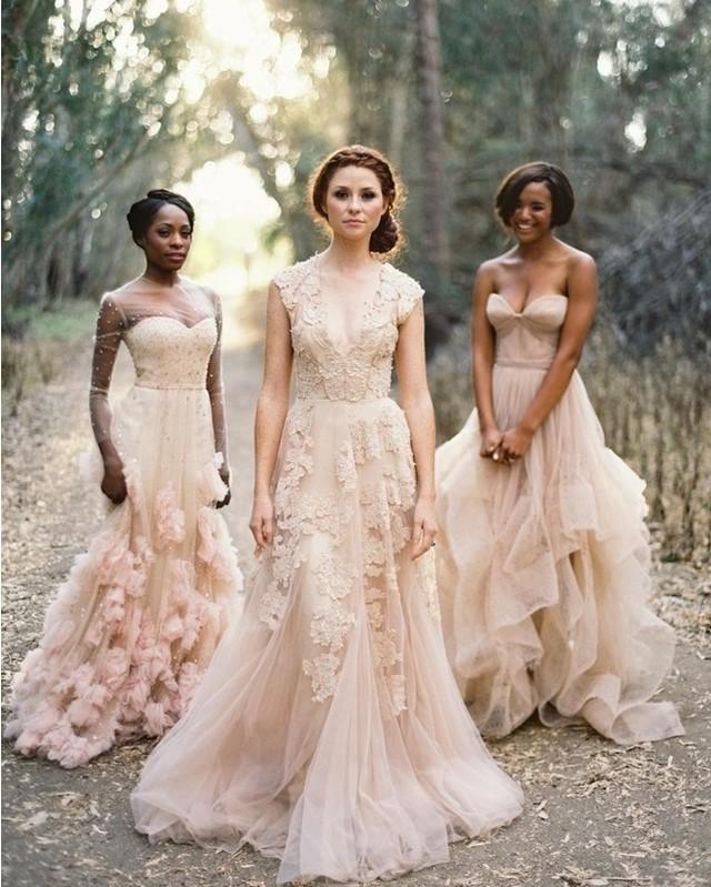 Non White Wedding Dresses | Wedding Dress Looking For A Non White Wedding Dress These Soft