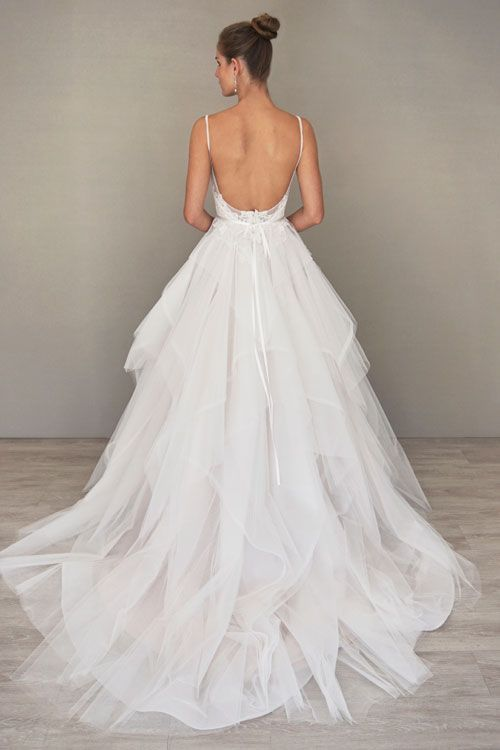 Ball Gown Wedding Dresses For Bride Ivory Cashmere Tulle And