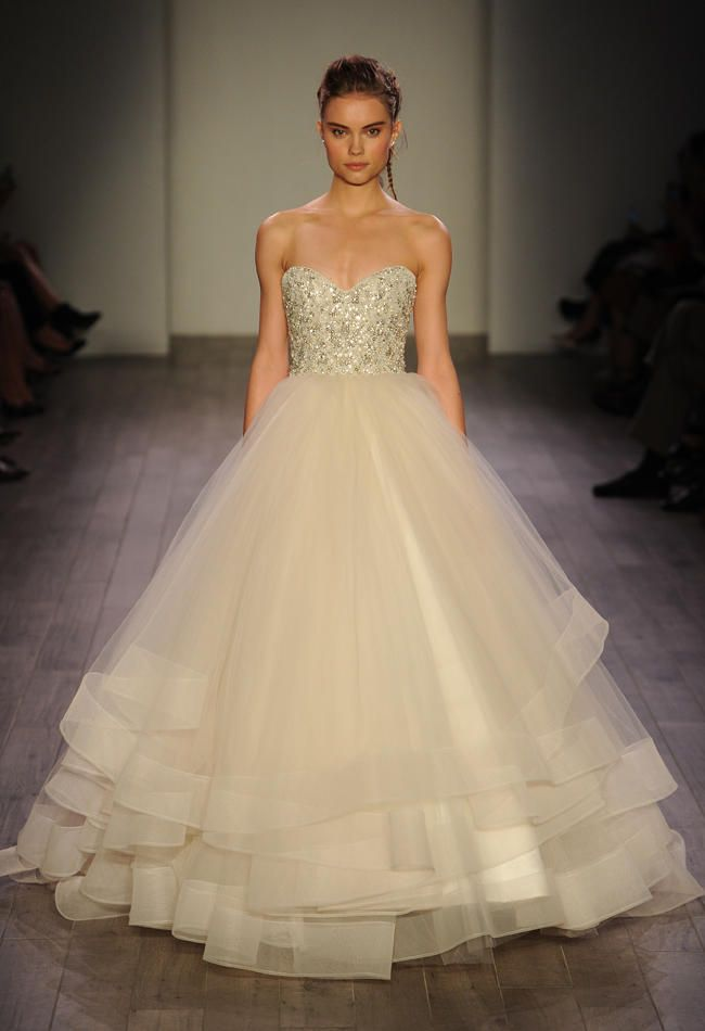 Ball Gown Wedding Dresses For Bride : Lazaro Shows Romantic Floral ...