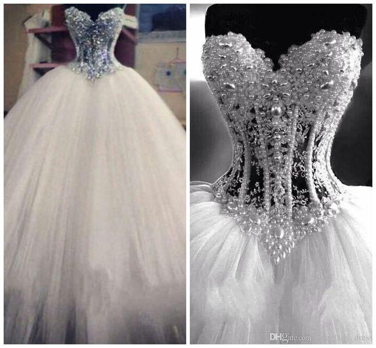 Ball Gown Wedding Dresses For Bride : Luxurious Bling Vestido De ...