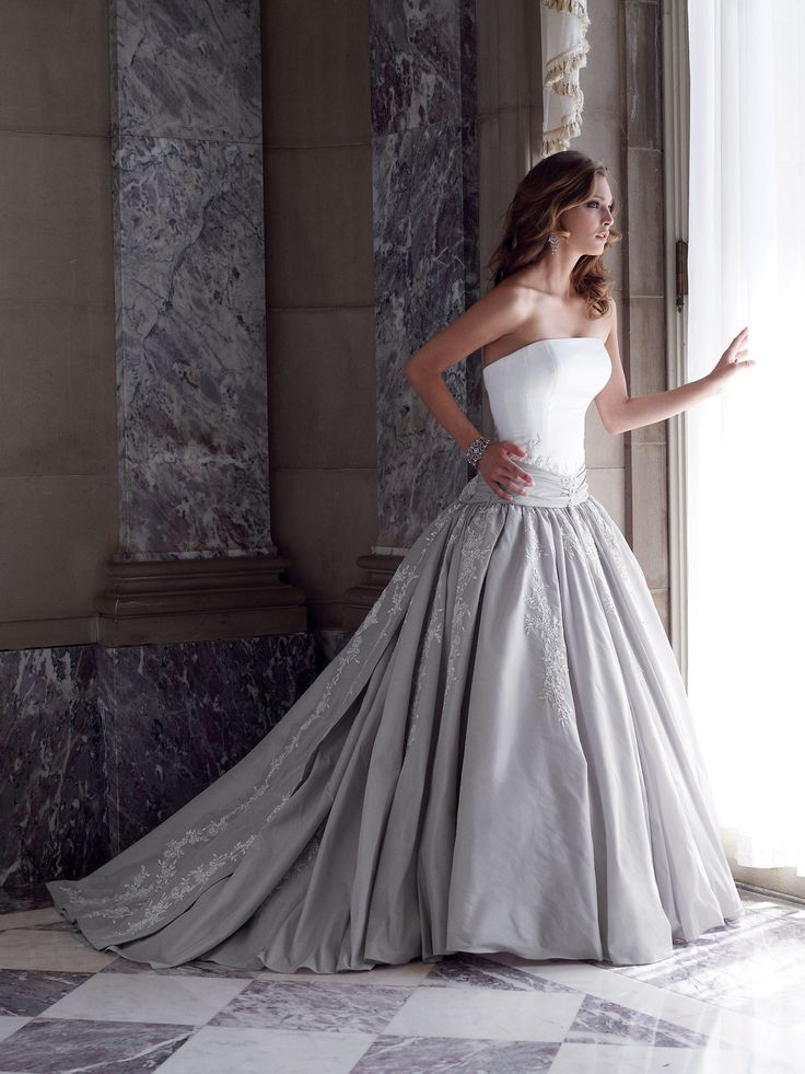 Ball Gown Wedding Dresses For Bride : Silver wedding dresses ...