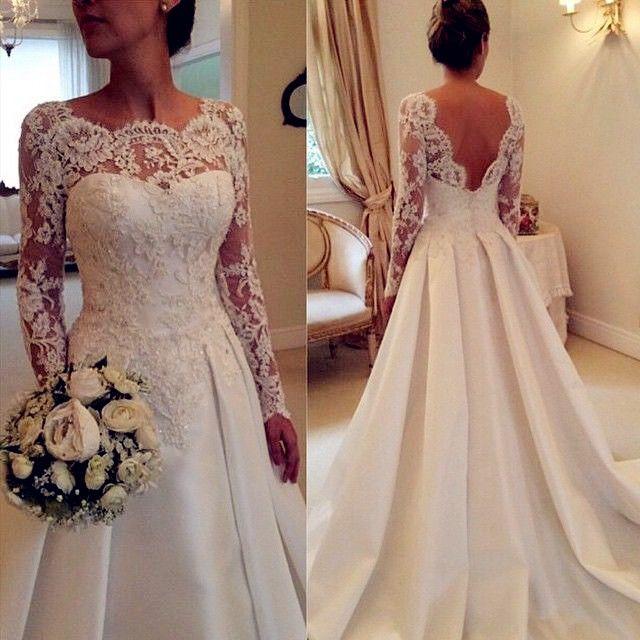 Ball Gown Wedding Dresses For Bride : White Wedding Dresses,Long ...