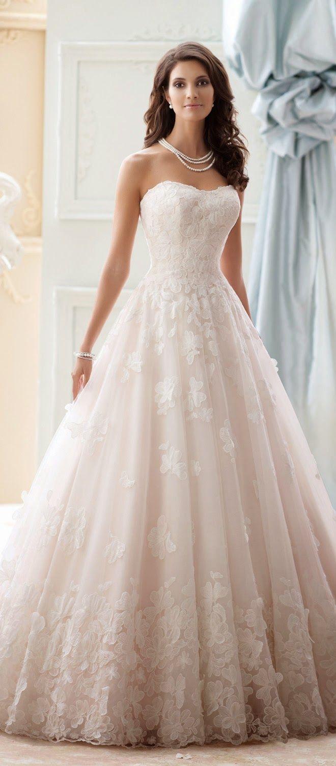 Ball Gown Wedding Dresses For Bride : David Tutera for Mon Cheri ...