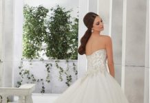 f90c48b67cb4 Ball Gown Wedding Dresses For Bride   Buy discount Dazzling Tulle   Satin Strapless  Neckline A-Line Wedding Dresses Wi…
