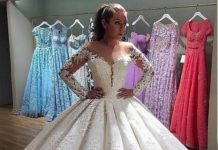 1ea192c39428 Ball Gown Wedding Dresses For Bride   Buy discount Glamorous Tulle    Organza Jewel Neckline Natural Waistline Ball Gow…