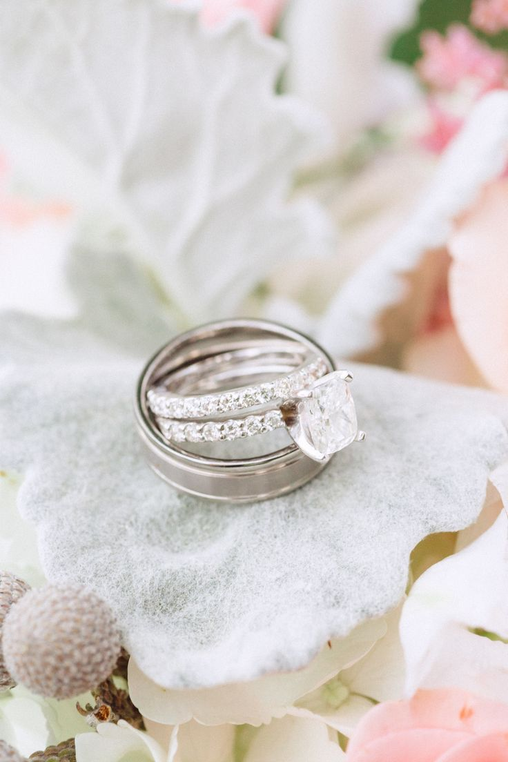 Engagement Rings: Cushion cut diamond with infinity band ...