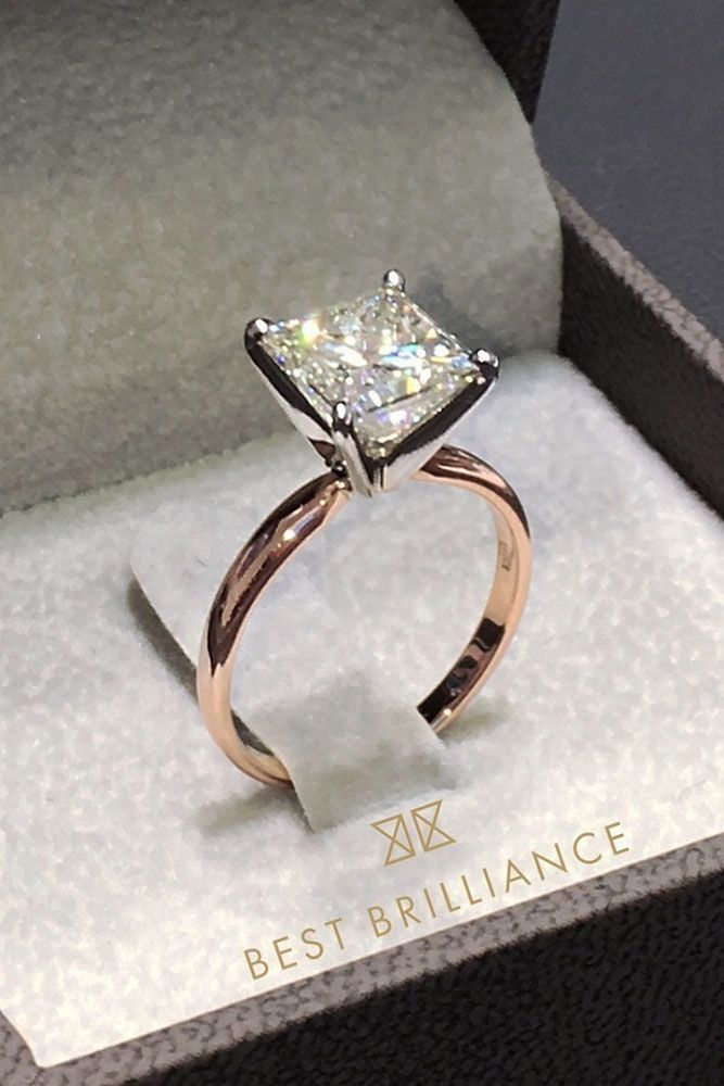 Engagement Rings Ideas Engagement Ring Inspiration Rose Gold Princess Cut Simple Ring Weddingtrend Home Of Bridal Trends The Hottest New Wedding Trends Straight From The Experts